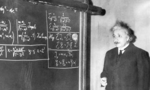 Albert Einstein Gives a Lecture